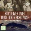 Hörbuch Cover: Dreifaches Abenteuer: Oliver Twist, Schatzinsel, Moby Dick (Download)