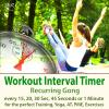 Hörbuch Cover: Workout Interval Timer: Recurring Gong for the Perfect Training, Yoga, AT, PME, Exercises - Every 15, 20, 30 Sec, 45 Seconds or 1 Minute (Download)